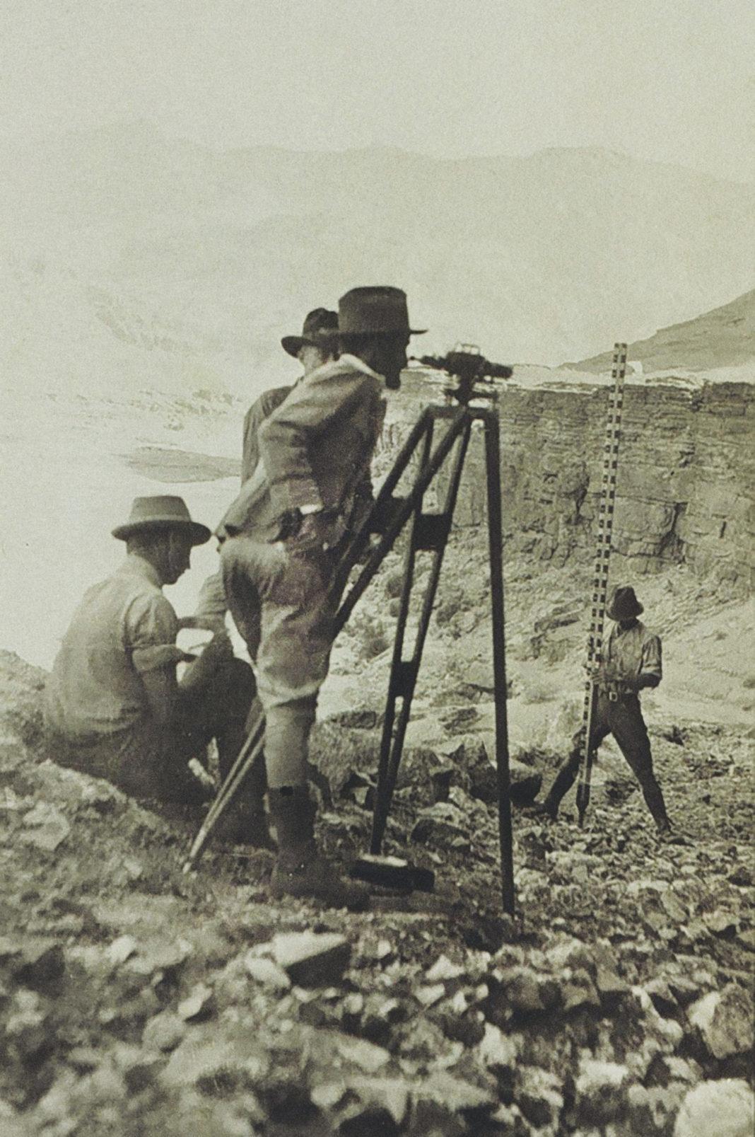 surveyors using a Fischer level