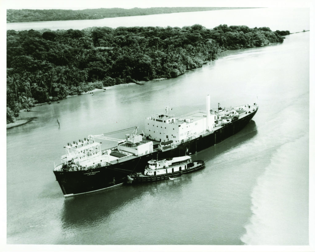 photo of a ship that was once a floating nuclear power plant