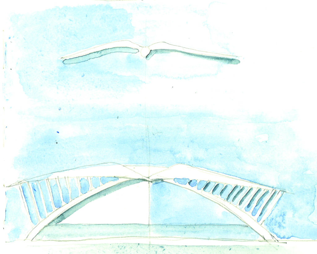 watercolor of design of embry-riddle student union