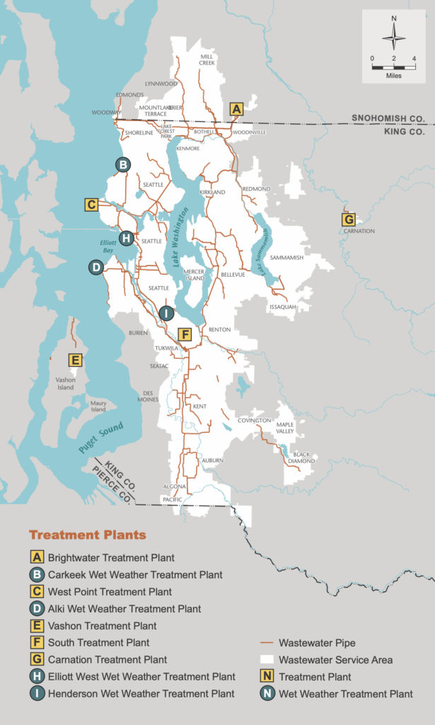 map of King County service boundaries