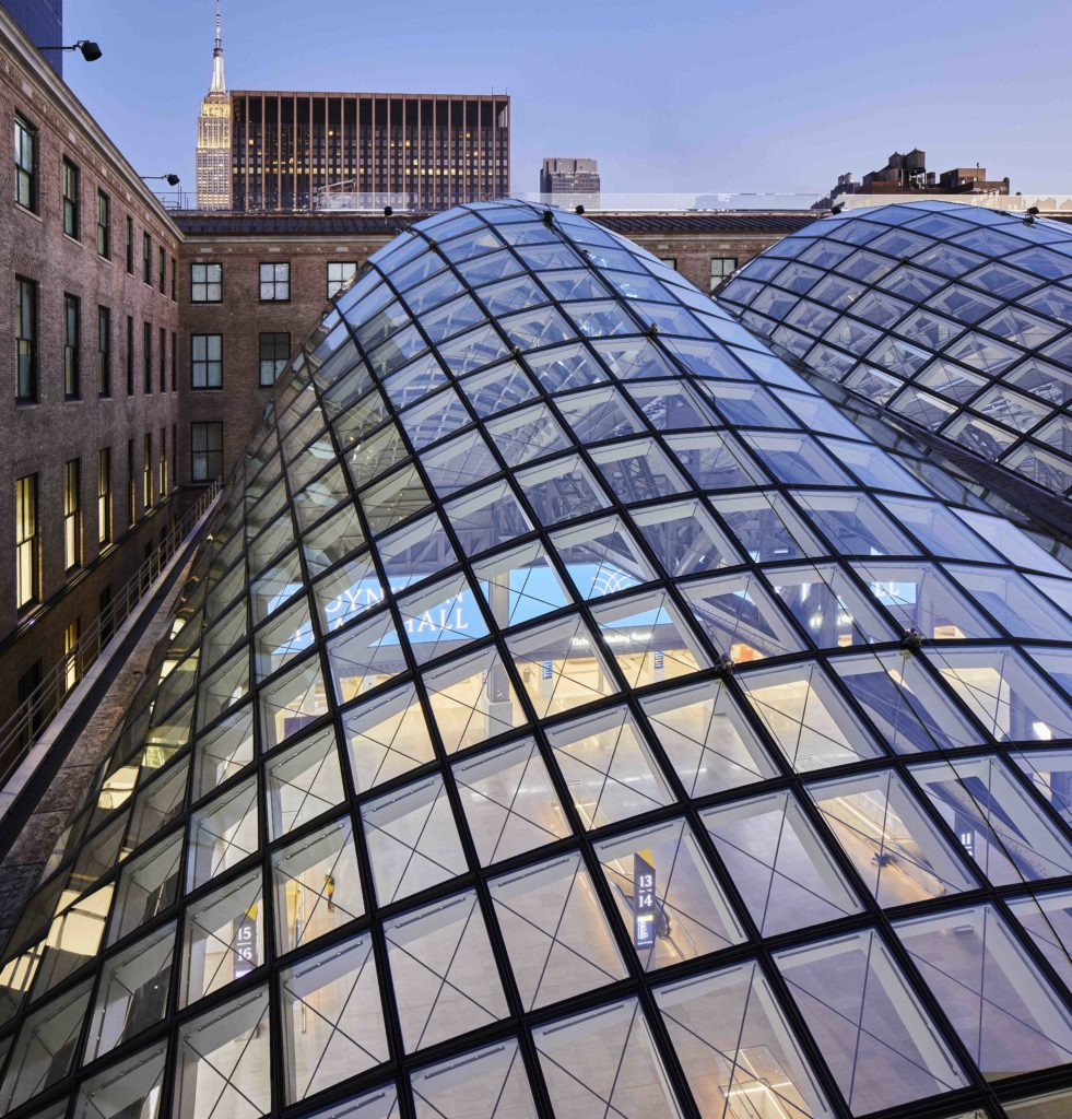a close look at pillowy, gridshell skylights