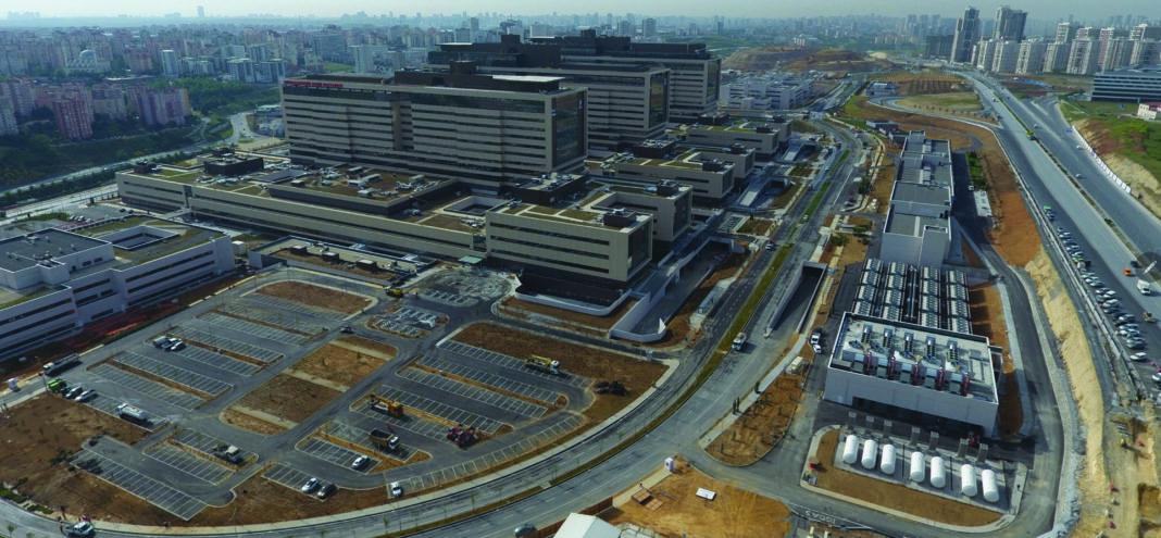 aerial photo of Turkish hospital