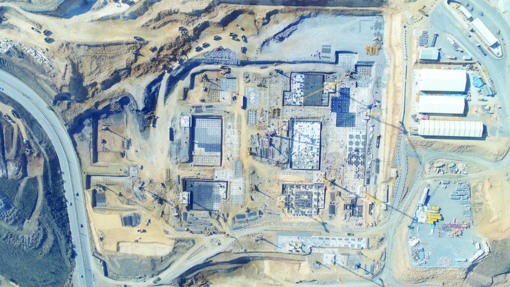 construction photo of the Başakşehir Pine and Sakura City Hospital