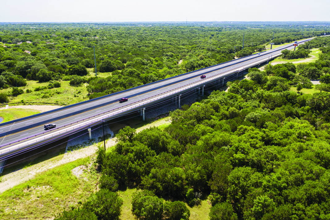 photograph of the new state highway 45 in Texas