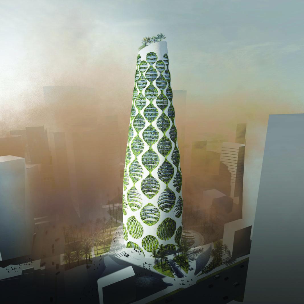 rendering of a vertical oasis