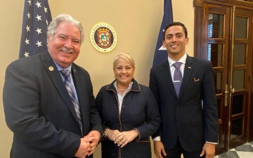 Hector Colon De La Cruz with Wanda Vazquez (middle), Former Governor of Puerto Rico.