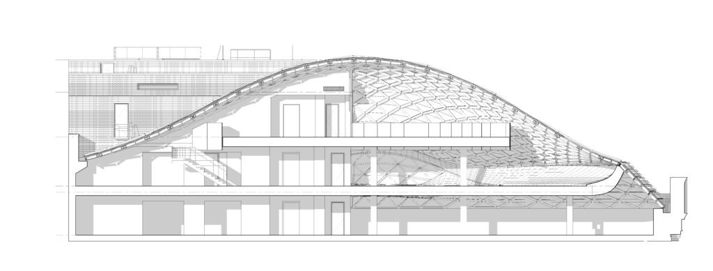 dome elevation view of the new Tammany Hall