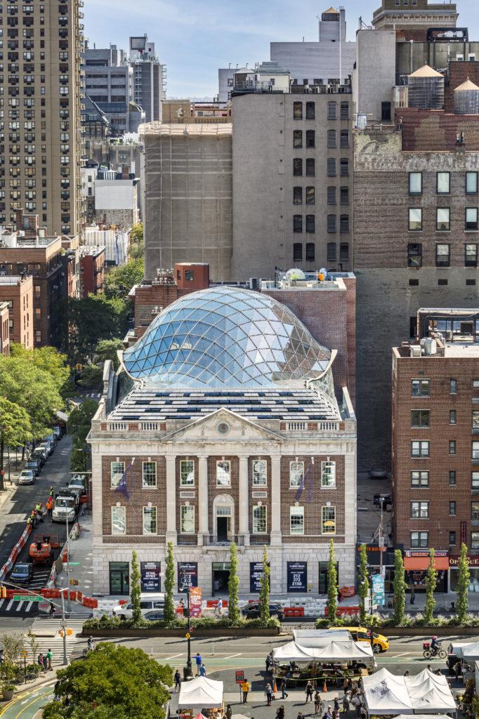 exterior shot of the new Tammany Hall