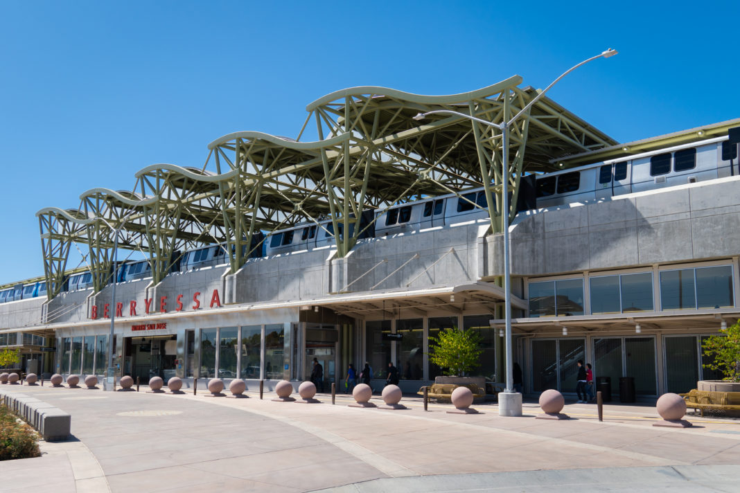 exterior shot of the new Berryessa station