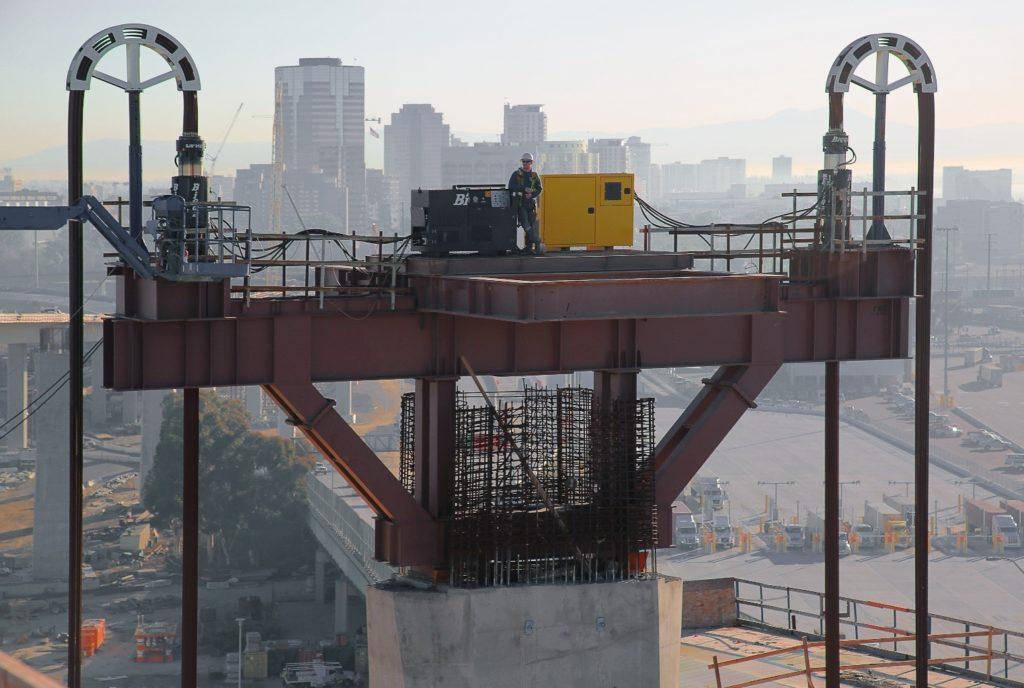 pier cap on the new Gerald Desmond Bridge