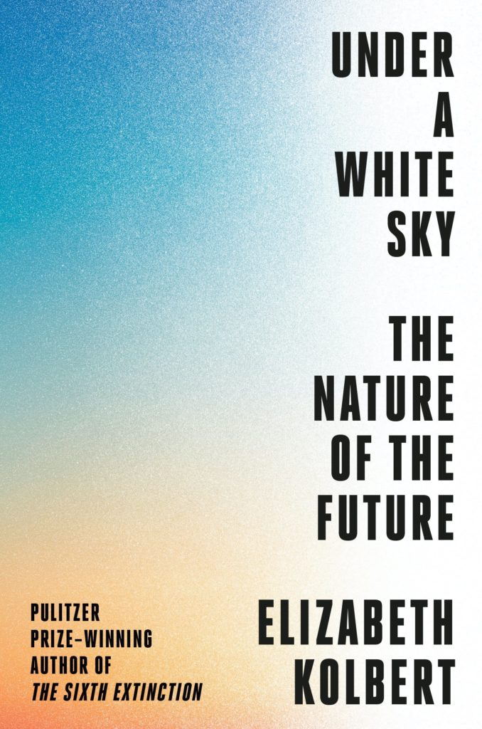 book cover showing text along the right hand edge of the image against a gradated color background that shifts from turquoise to orange