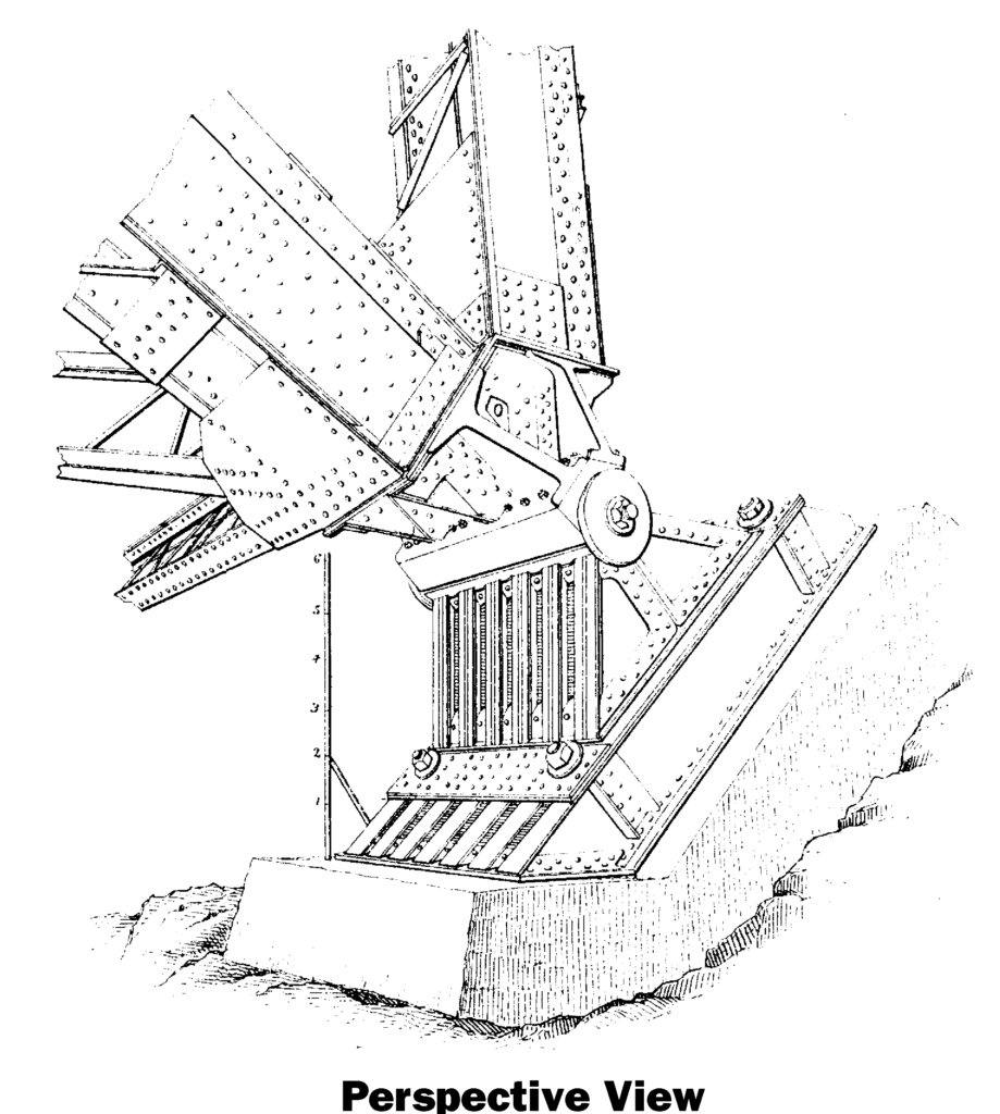 rawing of the foot or touchpoint of the victoria falls bridge
