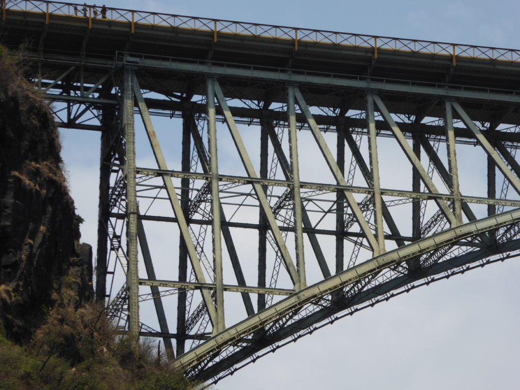 photo of the rolled steel components of the victoria falls bridge