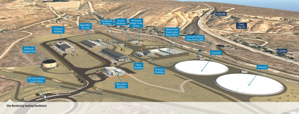 rendering of Northwater Treatment Plants many buildings and layout