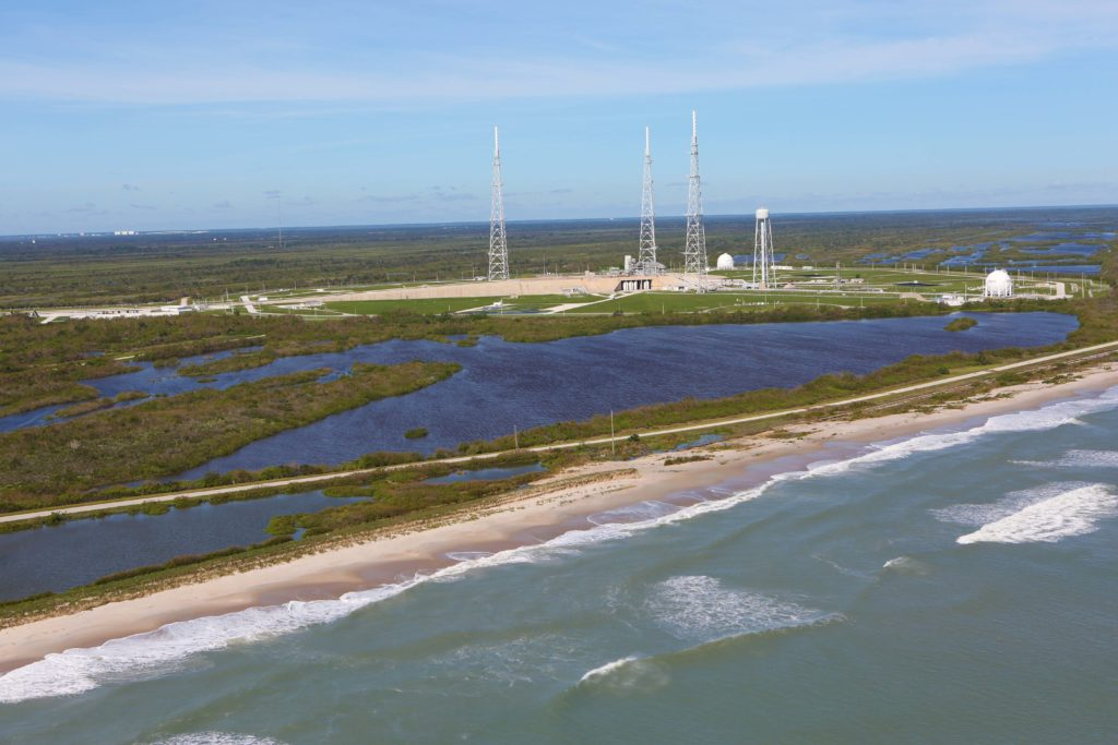 Launch Complex 39B is seen during an aerial survey of NASA's Kennedy Space Center in Florida