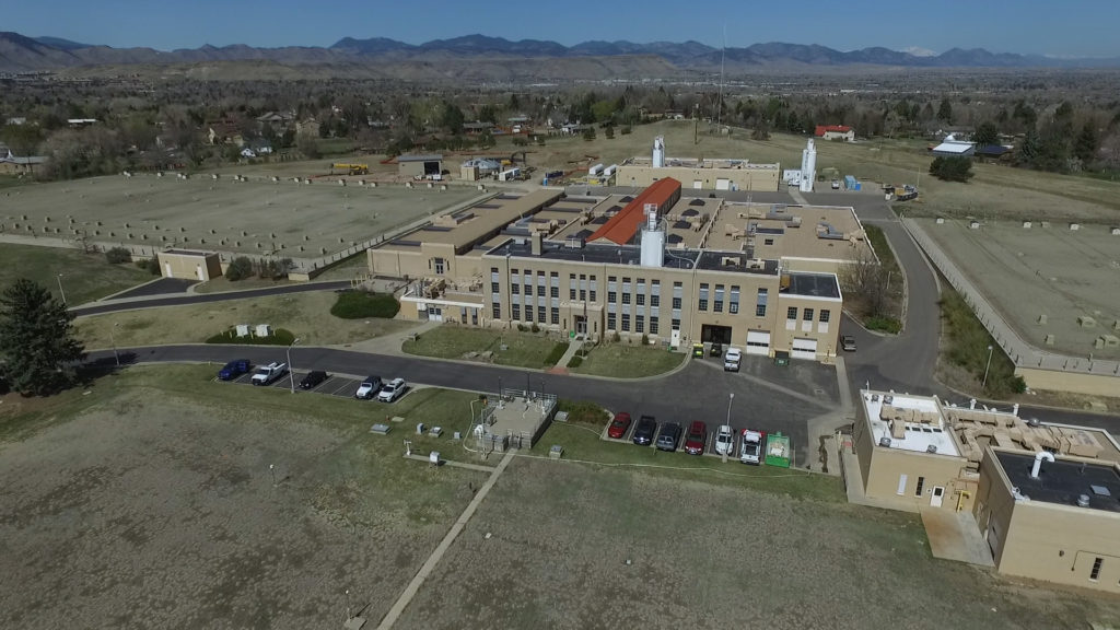 aerial view of the Moffat Treatment Plant